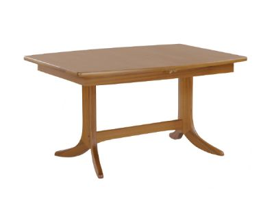 Small Boat Shaped Dining Table on Pedestal