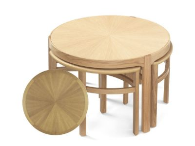 Sunburst Top Trinity Nest of Tables