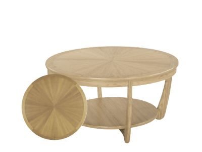 Sunburst Top Round Coffee Table