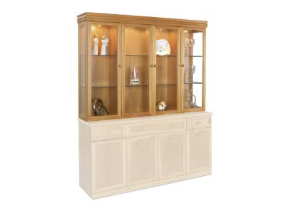 Top Display Unit Four Doors with Mirrored Back