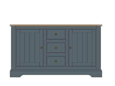 2 Door 3 Drawer Sideboard