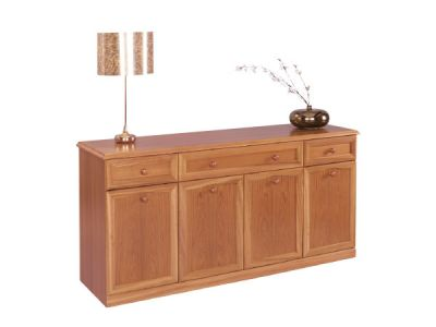 Sideboard Canted Top 4 Door 3 Drawers