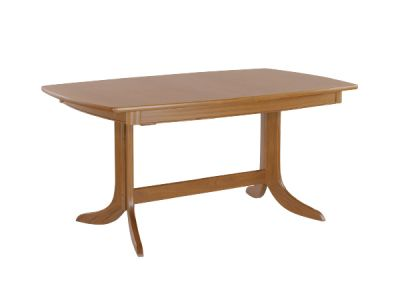 Extending Boat Shaped Dining Table on Pedestal
