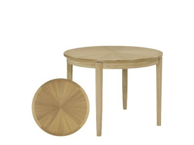 Circular Dining Table with Sunburst Top on Legs
