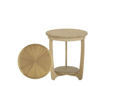 Large Sunburst Top Round Lamp Table