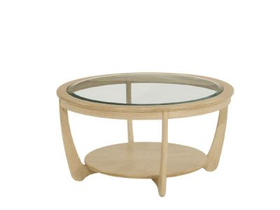 Glass Top Round Coffee Table
