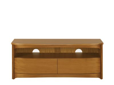 Shaped TV Unit with Drawers