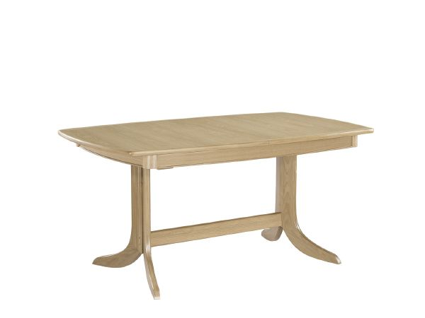 Extending Boat Shaped Pedestal Dining Table