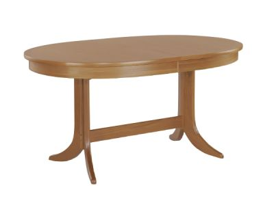 Large Oval Dining Table on Pedestal