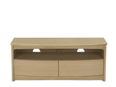 Curved TV Unit with Drawers