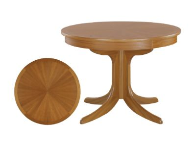 Circular Sunburst Table on Ped
