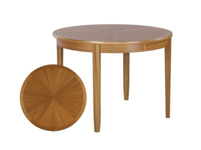 Circular Sunburst Table on Legs