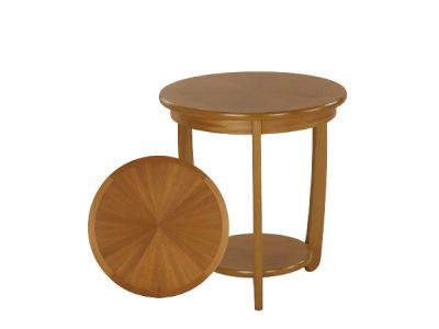 Large Sunburst Top Round Lamp Table