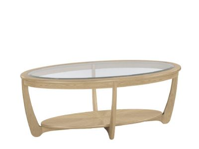 Shades Glass Top Oval Coffee Table