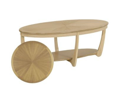 Shades Sunburst Top Oval Coffee Table