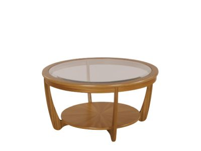 Shades Glass Top Round Coffee Table