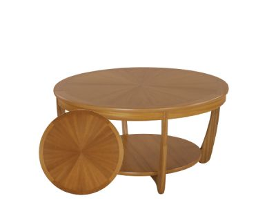 Shades Sunburst Top Round Coffee Table