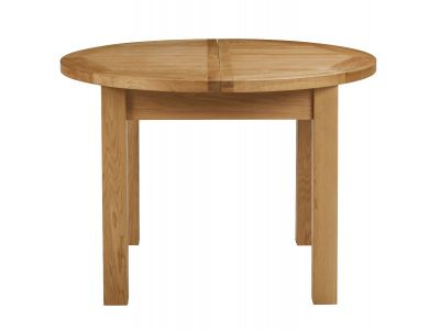 1100 Extending Round Dining Table Oak