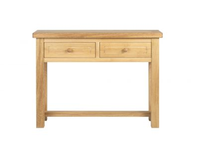 2 Dwr Console Table Oak