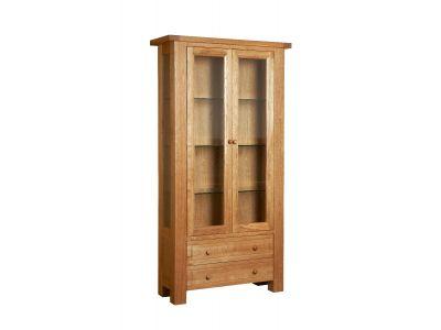 Display Cabinet 2 Door Oak